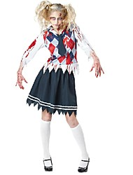 cheap -Zombie Uniforms Cosplay Costume Women's Halloween Carnival Festival / Holiday Polyester Cotton Women's Carnival Costumes / Top