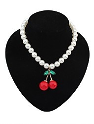 cheap -Pendant Party Work Casual Imitation Pearl Acrylic Alloy Screen Color Necklace Jewelry For