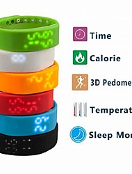 Недорогие -Муж. Спортивные часы Цифровой силиконовый Черный / Белый / Синий Календарь Секундомер Термометр Цифровой Кулоны - Красный Зеленый Синий