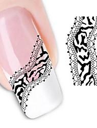 abordables -1 Sticker Manucure  Autocollants de transfert de l'eau Autocollants 3D pour ongles Fleur Mariage Maquillage cosmétique Manucure Design