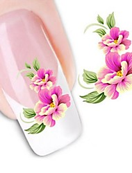 cheap -1 pcs 3D Nail Stickers Water Transfer Sticker nail art Manicure Pedicure Flower / Wedding / Fashion Daily