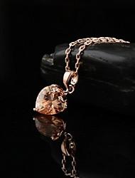Недорогие -Золотой Фиолетовый Красный Сердце Золотистый Розовое золото Ожерелье Бижутерия Назначение Повседневные