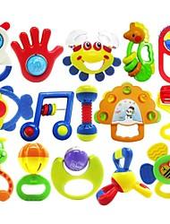 Недорогие -15pcs красочные мульти-формы Дети Детские кольца колокол игрушки