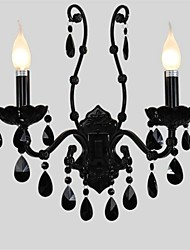 cheap -Crystal/Mini Style Wall Sconces/Candle Wall Lights , Modern/Contemporary E12/E14 Metal