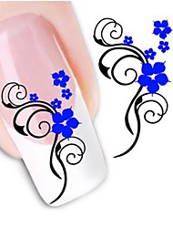abordables -1 Autocollant d'art de clou Autocollant de transfert d'eau Fleur Mariage Maquillage cosmétique Nail Art Design