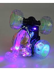 Недорогие -новейший беспроводной RC автомобилей вращение 360 градусов танец трюк автомобиль с мигалкой и музыки случайный цвет inc.battery