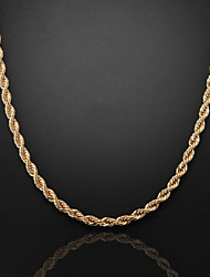 cheap -Chain Necklace Figaro Chunky Foxtail chain Cross Unique Design Fashion Dubai 18K Gold Plated Silver Plated Gold Plated Rose Gold Necklace Jewelry For Christmas Gifts Wedding Party Gift Daily Casual