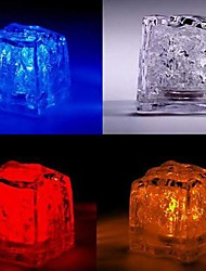 cheap -LED Color Change Ice-cube Shaped Light Halloween Props