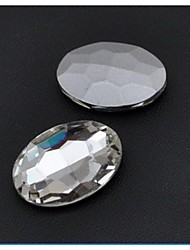 cheap -30*20MM Fashion Cellphone Beauty Oval Transparent Acrylic Faceted Sticky Rhinestones Gems(5 Pcs)
