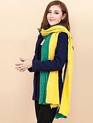 Недорогие -женские fashine личность колющие цвета долгая зима теплый шарф