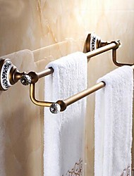 cheap -Towel Bar High Quality Antique Brass Crystal Ceramic 1 pc - Hotel bath 2-tower bar
