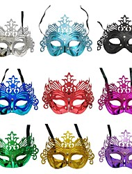 cheap -Dance Party Halloween Mask Gold Coloured Drawing Pattern