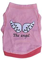 cheap -Cat Dog Shirt / T-Shirt Dog Clothes Angel & Devil Red and Pink Cotton Costume For Spring &  Fall