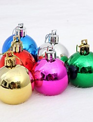 cheap -6 pcs Christmas Decorations Hanging Drop Balls Multicolor Random Collocation(Φ=8cm)