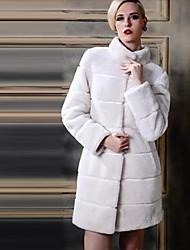 cheap -Women Faux Fur Outerwear , Fleece Lining