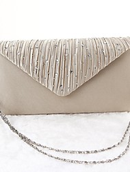 cheap -Women's Bags Polyester Evening Bag Plain Party Event / Party Evening Bag Wedding Bags Handbags Black Gold Silver Beige