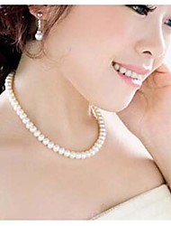 cheap -Women's Statement Necklace Pearl Necklace Pearl White Necklace Jewelry For