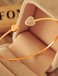 cheap -Cubic Zirconia / Alloy Cute - Cuff / Party Gold Bracelet For