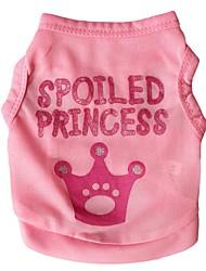 cheap -Cat Dog Shirt / T-Shirt Tiaras & Crowns Dog Clothes Pink Rose Costume Terylene XS S M L