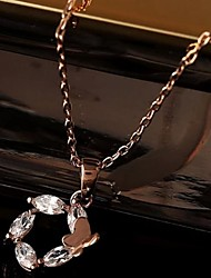 cheap -Clear Flower Gold Rose Gold Necklace Jewelry For Daily