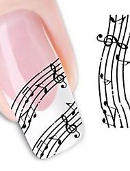 cheap -1 pcs 3D Nail Stickers Water Transfer Sticker nail art Manicure Pedicure Flower / Wedding / Fashion Daily