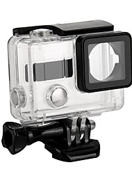 cheap -dualane side opening protective case for gopro hero 3 transparent