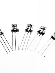 cheap -HX1838/PC638 DIY Universal Electronic Component Infrared Receiver - Silver (5 PCS)