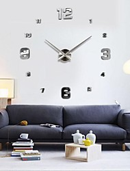 cheap -Frameless Large DIY Wall Clock, Modern 3D Wall Clock with Mirror Numbers Stickers for Office Living Room Bedroom Kitchen Bar Clock Plate