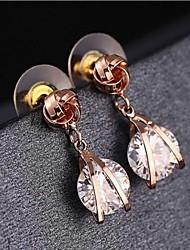 cheap -Fashion Joker Fine Plating Gold Earrings