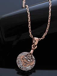 cheap -Clear Gold Rose Gold Necklace Jewelry For Daily
