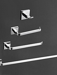 cheap -Bathroom Accessory Set Contemporary Brass 4pcs - Hotel bath Toilet Paper Holders / Robe Hook / tower bar