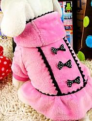 abordables -Chien Manteaux Hiver Vêtements pour Chien Noir Rose Costume Térylène Coton XS S M L XL