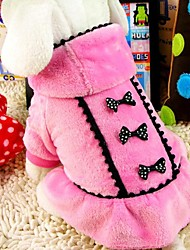 cheap -Dog Coat Winter Dog Clothes Black Pink Costume Terylene Cotton XS S M L XL