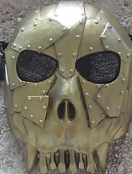 cheap -Desert Corps Skeleton Full Face Mask for Halloween Party(Gold&Silver&Red&Bronze)(1 Pc)