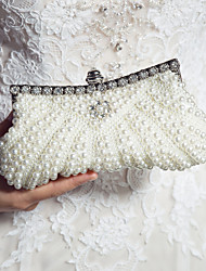 cheap -Women's Pearl / Sequin / Imitation Pearl Satin Evening Bag Wedding Bags Black / Pink / Ivory