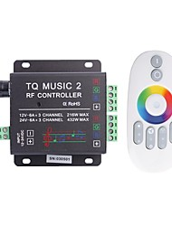 cheap -6A 3-Channel TQ RF Music RGB LED Audio Controller with Multifunction Remote for RGB LED Strip Lamp (DC 12-24V)