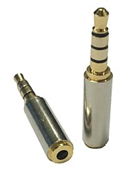 cheap -Gold 3.5mm Male to 2.5mm Female Stereo Audio Headphone MIC Adapter Converter