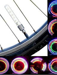 cheap -LED Bike Light Valve Cap Flashing Lights Wheel Lights Mountain Bike MTB Bicycle Cycling Waterproof Portable Cell Batteries Battery Cycling / Bike / IPX-4