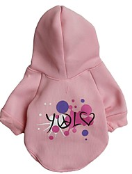 cheap -Cat Dog Hoodie Winter Dog Clothes Pink Costume Terylene Letter & Number XS S M L