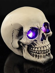 cheap -Trick Leds Luminous Eyes Resin Smooth Surface Skull for Halloween(1 Pc)