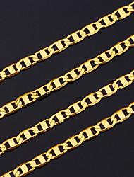 Недорогие -Муж. Ожерелья-цепочки Бат-цепь Дамы Дубай Медь Позолота Металл цвета желтого золота Золотой Ожерелье Бижутерия Назначение Новогодние подарки Для вечеринок