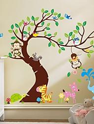 abordables -singe zooyoo® amovible sur l'arbre stickers muraux vente chaude stickers pour la décoration 1pc