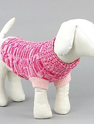cheap -Dog Sweater Dog Clothes Blue Pink Terylene Cotton Costume For Winter