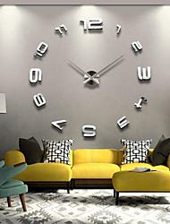 "cheap -39""W DIY 3D Mirror Numbers Acrylic Sticker Wall Clock"
