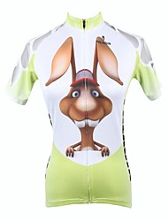 cheap -ILPALADINO Women's Short Sleeve Cycling Jersey Animal Cartoon Plus Size Bike Jersey Top Mountain Bike MTB Road Bike Cycling Breathable Quick Dry Ultraviolet Resistant Sports 100% Polyester Clothing