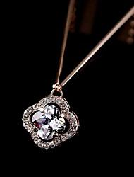 Недорогие -Серебро Цирконий Серебристый Розовое золото Ожерелье Бижутерия Назначение Повседневные