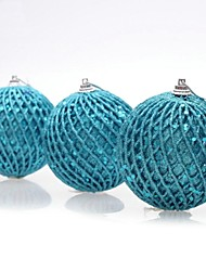 cheap -3 pcs Christmas Decorations Hanging Drop Bundled Hemp Balls(Φ=6cm)