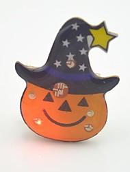 Недорогие -toonykelly® привело свет Хэллоуина пластиковые тыквы флэш брошь игрушка (случайный цвет) (1шт)