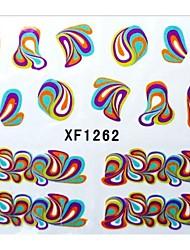 abordables -1 Sticker Manucure  Autocollants de transfert de l'eau Autocollants 3D pour ongles Fleur Abstrait Maquillage cosmétique Manucure Design