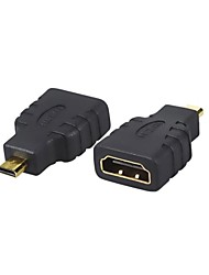 cheap -1PCS New HDMI Female to Micro HDMI Male F/M Converter Adapter Connector HD TV Camera Free Shipping